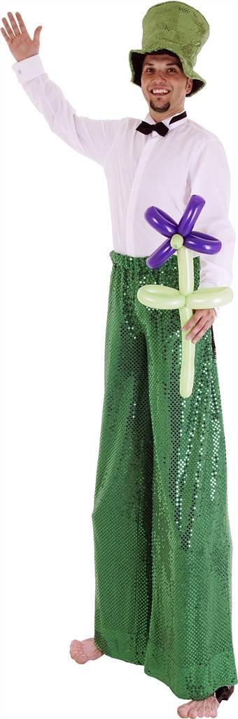Stelzenläufer Grün