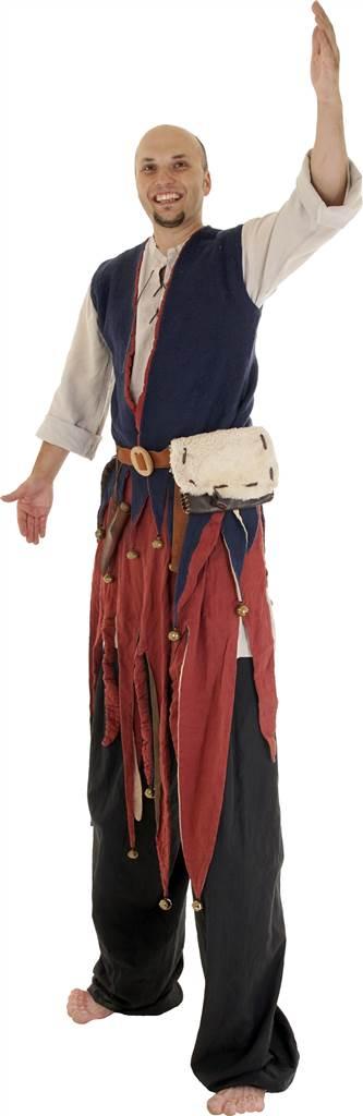 Mittelalter Stelzenläufer und Jongleur
